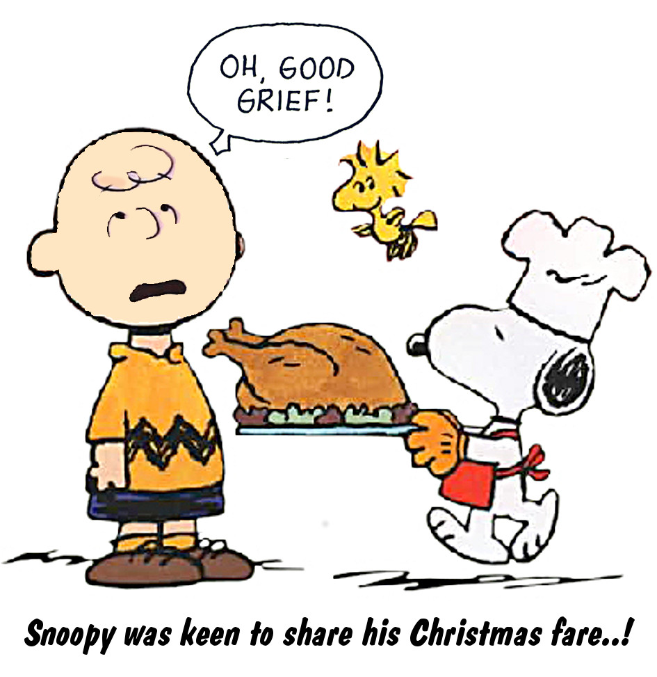Snoopy's turkey gift