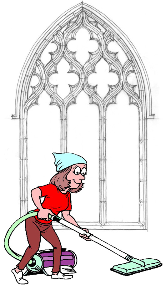 Image result for CHURCH CLEANING cartoon